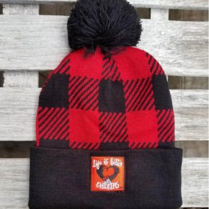 Life is Better with Chickens Red Black Plaid Winter Cap