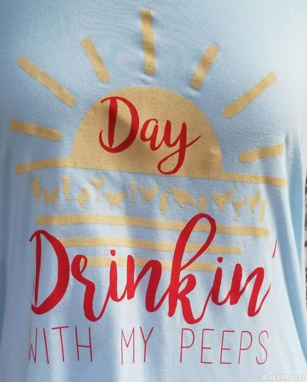 Day Drinkin with My Peeps Tank Cover-Up - baby blue