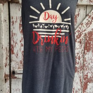 Day Drinkin with My Peeps Tank Cover-Up - charcoal