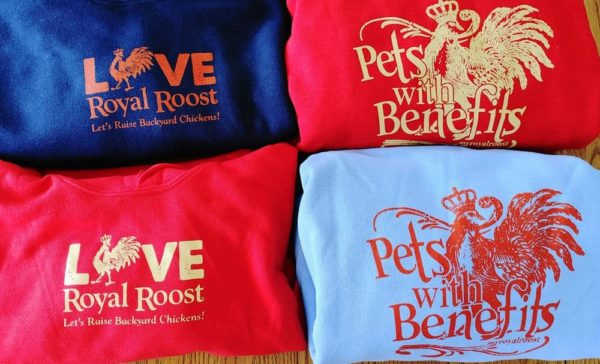 Chicken Love/Pets with Benefits Royal Roost Sweatshirts